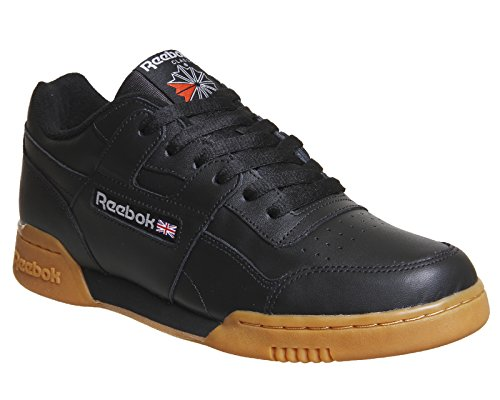 Reebok Workout Plus, Baskets Basses Homme Noir (Black/carbon/classic Red/reebok Royal-gum)
