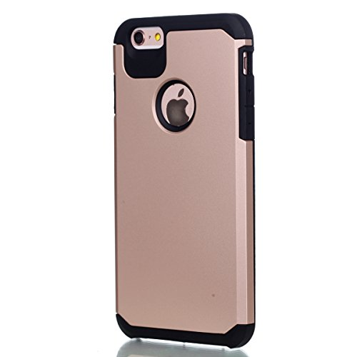 Ukayfe Custodia Morbido per iPhone 6/6S plus,2 in 1 Ultra Slim Casa per iPhone 6/6S plus Cover in Gel TPU Silicone Case Morbida Soft Trasparente e Cristallo Protettiva Custodia Brillantini Resistente  Rosa