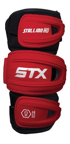 STX Lacrosse Stallion HD Arm PADS, Red, Medium by STX (Lacrosse-pads Stx)