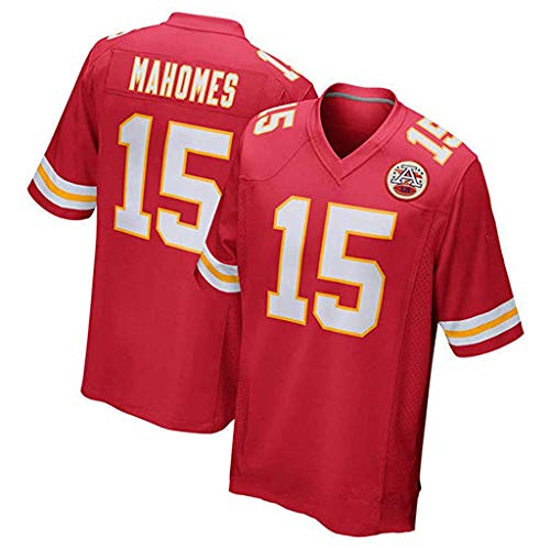 NFL 10# 15# 87# Trikot Kansas City Chiefs Team Trikot Fan Edition Stickerei T-Shirt Sport Kurzarm-Top-7-M