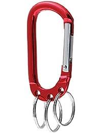 Rouge Bague pour y accrocher Porte-clés mousqueton Sac universel