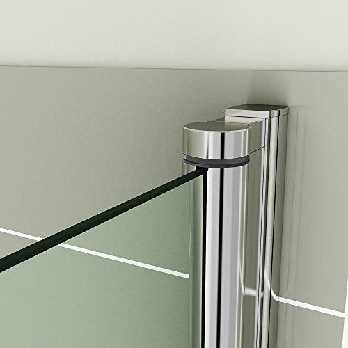 800mm Bath Shower Glass Bathroom Screen with Towel Rail