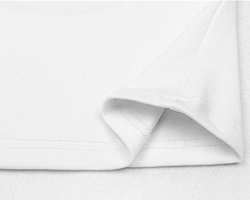 Damen Casual Kurzarm Rückenfreie Kurze T-Shirt Tops Oberteil Tops Bluse Shirt Weiß