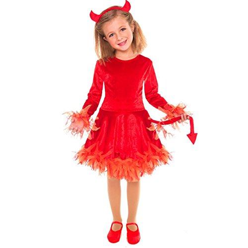Kostüm Girl Led Little - Mädchen Light Up Teufel Halloween-Kostüm