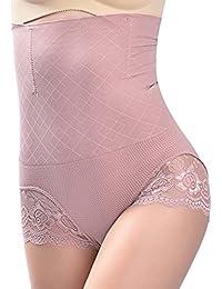 Amplaue Femme Culotte Sculptante Culotte Push Up Body Minceur Gaine Ventre  Plat Taille Haute Panty Amincissante fa6301c02a4