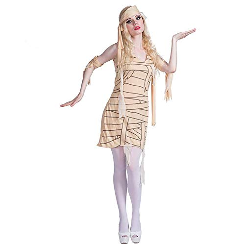 SHANGLY Frau Halloween Kostüm Das alte Ägypten Mummy Cosplay Mädchen Karnevalsfeier Kostüm Kopfschmuck,M