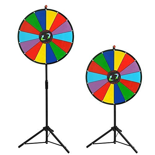 l Fortune w Folding Tripod Floor Stand Carnival Spinnig Game by Yescom ()