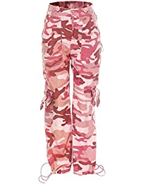 SUCCESS Fille Camouflage Pantalon De Combat décontracté Wear Chino Pantalon En Tissu 5 Poches Ajustement Régulier Pantalon de loisir 1070