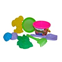 Polesie 634 213, Sieve, Shovel, Rake No.5, 2 Forms (Squirrelwithdoggie) -Sets: Medium Decorated Bucket, Multi Colour