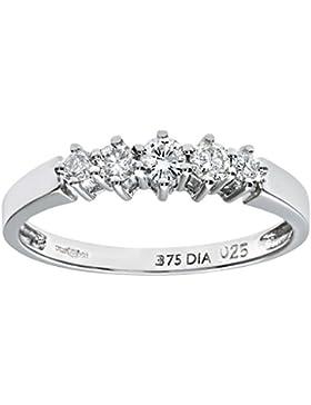 Naava Damen-Ring 375 Weißgold 9 K Diamant