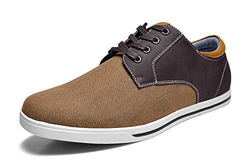 Bruno Marc RIVERA-01 Zapatos de Cordones Oxfords para Hombre Marrón Oscuro 42.5 EU/9.5 US