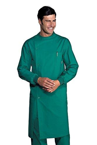 Isacco Camice Dentista Verde, Verde, XL, 100% Cotone, Polso in Maglia