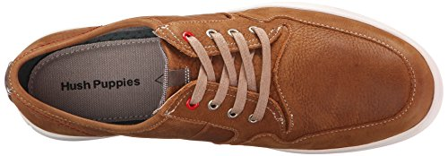 Hush Puppies Mens Hanston Roadside Leather Sneaker Tan Leather
