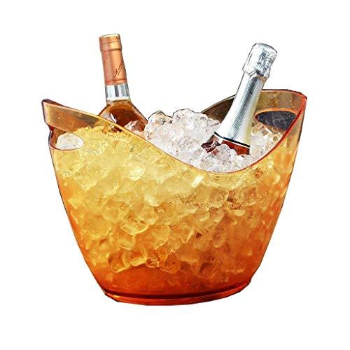 rungswanne aus Kunststoff, Wein, Bierflaschen-Getränkekühler, Party-Eiskübel, Party-Getränkekühler, Körbe, 8 l ()