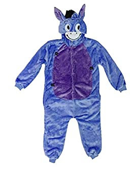 Udreamtime Kids Homewear Sleepsuit Animal Pajamas Halloween Cosplay Costume Donkey L 0