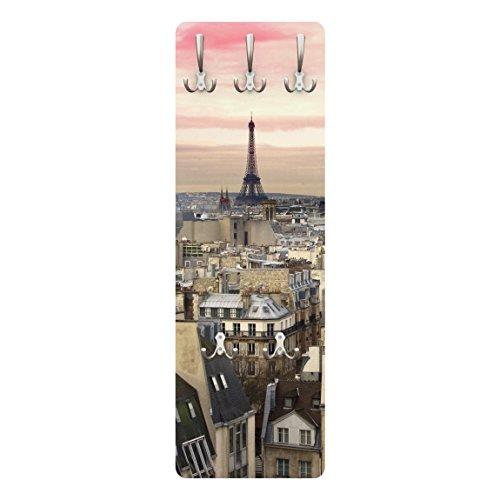 Apalis 79285 Wandgarderobe Paris hautnah   Design Garderobe Garderobenpaneel Kleiderhaken Flurgarderobe Hakenleiste Holz Standgarderobe Hängegarderobe   139x46cm