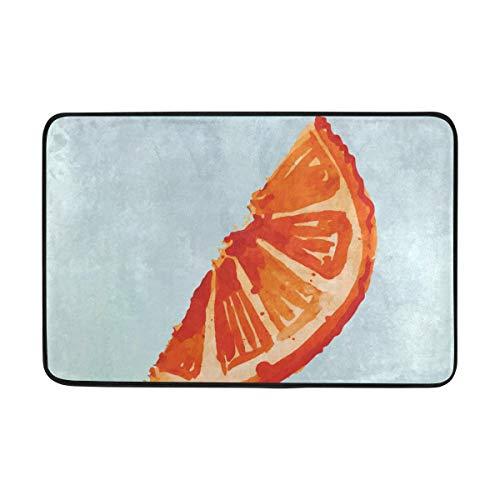 FAJRO Orange-Slice Polyester 5 x 7 Bereich Teppich Schuhe Schaber Eingang Weg Fußmatte Multimuster Fußmatten Home Dec Anti-Rutsch Indoor/Outdoor (Orange Teppich, 5 X 7)
