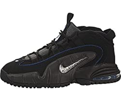 Nike Kids Air Max Penny LE (GS) Black/White/Gm Ryl/Mtllc Slvr Basketball Shoe 5 Kids US