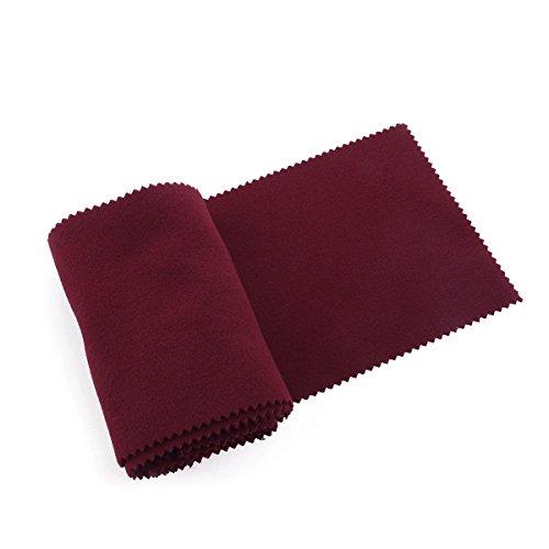 LUOEM Schallschutz Klaviertastatur Klavier Zubehör 128 x 15 cm (Rot)