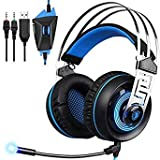 SLB Works Sades A7 3.5mm Wired Stereo Surround Noise Cancelling Gaming Headset