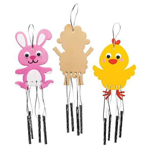 Baker Ross Carillons de Pâques à décorer (Lot de 4) - Loisirs créatifs de Pâques pour Enfants