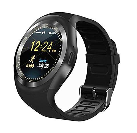 bluetooth smart watch, kkcite sport fitness - tracker tf / sim - karte mit kamera smartwatch telefon oh schlafen monitor zu fuß auf ios - android - (Unlocked Gsm-bluetooth-kamera-telefon)