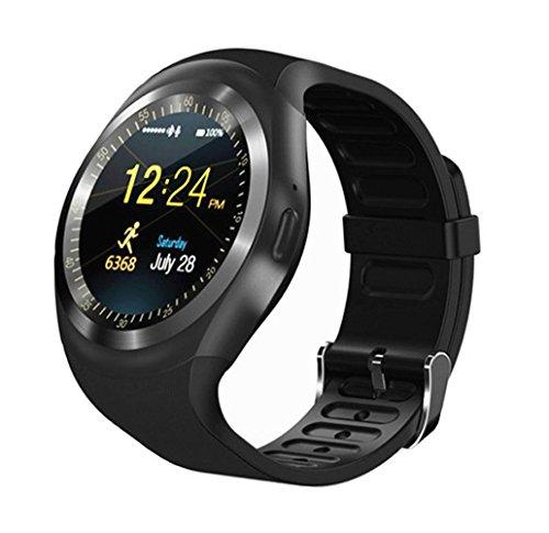 bluetooth smart watch, kkcite sport fitness - tracker tf / sim - karte mit kamera smartwatch telefon oh schlafen monitor zu fuß auf ios - android - smartphones Unlocked Gsm Touchscreen