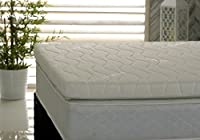 Visco Therapy Memory Foam Fibre 3Inch (7.5cm) Mattress Topper with Free Luxury Cover