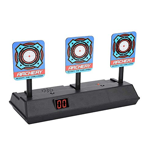 sunshineBoby Automatisches Zurücksetzen des intelligenten Lichteffekts Scoring Targets Toys Match-Spielwasserpistole der Kinder Elektronisches Scoring-Ziel, Das Schießspaßziel anstrebt (zufällig)