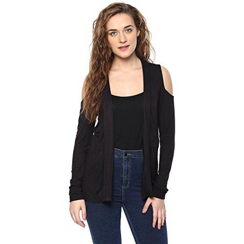 Femella Fashion's Black Cold Shoulder Shrug