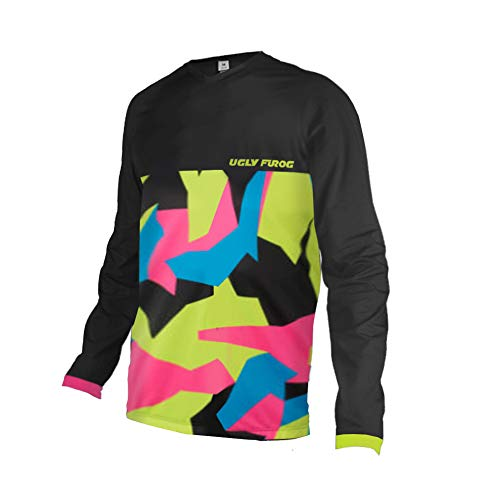 Uglyfrog Bike Wear Element Racewear MX Motocross Jersey Atmungsaktiv Trendy Herren Downhill/MTB Shirt Mountain Shirt Fahrradtrikot Langarm Freeride BMX Frühling Top MF08