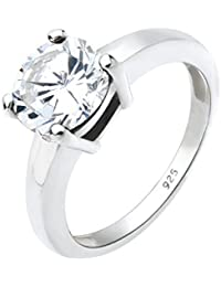 Elli Damen-Solitärring 925 Sterling Silber Zirkonia weiß Brillantschliff 06400595_54