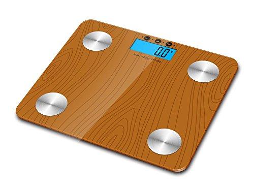 Sweety House 180kg Digital Body Fat Wasser Bone Kalorien BMI Analyser Glas Personenwaage UK