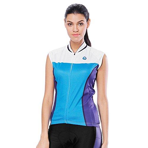 Trendyest Damen Fahrradtrikot, Reflektierende Streifen, schnell trocknend, ärmellos, e