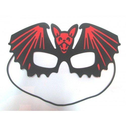 Mask Eye Bat Red & Black - Bat Bunting Kostüm