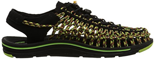 Keen Chaussures de randonnée Uneek Noir - BLACK/GREEN GLOW