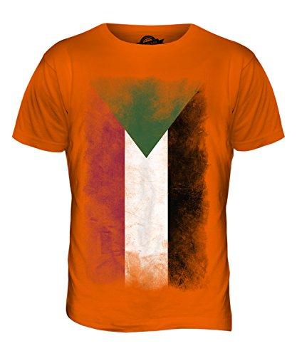 CandyMix Sudan Verblichen Flagge Herren T Shirt Orange