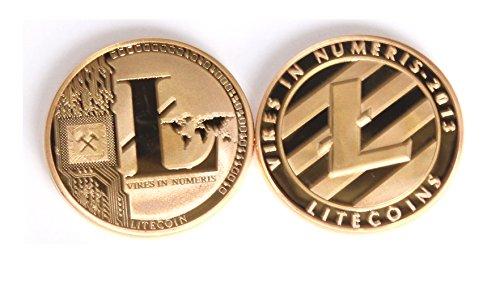 sseell vergoldet Litecoin dekorativ Medaille Sammlerstück Geschenk LTC Medaille Art Collection Physikalische - 3