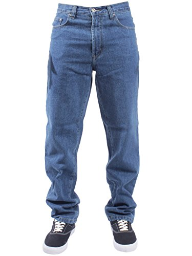 BLUE CIRCLE Mens Straight Leg Jeans Basic Heavy Duty Work Denim Trousers Pants All Waist Big Sizes in 4 Colours