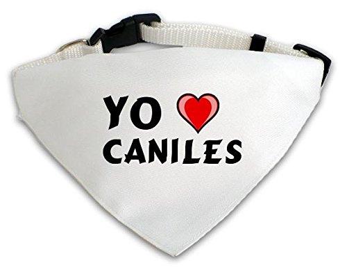 Pañuelo blanco personalizado para perros con Amo Caniles (ciudad / asentamiento)