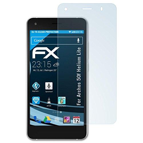 atFolix Schutzfolie kompatibel mit Archos 50f Helium Lite Folie, ultraklare FX Bildschirmschutzfolie (3X)