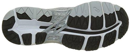 Asics Men's Gel-Kayano 24 Running Shoes, Silver (Silver/Black/Mid Grey), 7 UK 41.5 EU