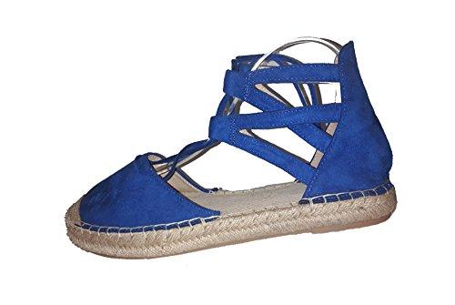 Espadrilles femme, bleu ou noir, sandales, modèle 11064113078311, escarpins, modèles et tailles différents (tailles 36 - 41). Bleu.