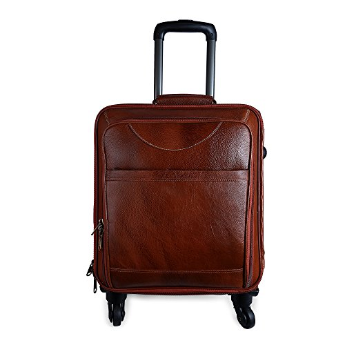 Charpe Genuine Leather 4 Wheeler Trolley/Travel/Suitcase Bag  available at amazon for Rs.9850