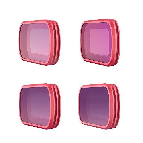 jfhrfged PGYTECH Für DJI Pocket 4PCS ND8 ND16 ND32 ND64 Professioneller Objektivfilter