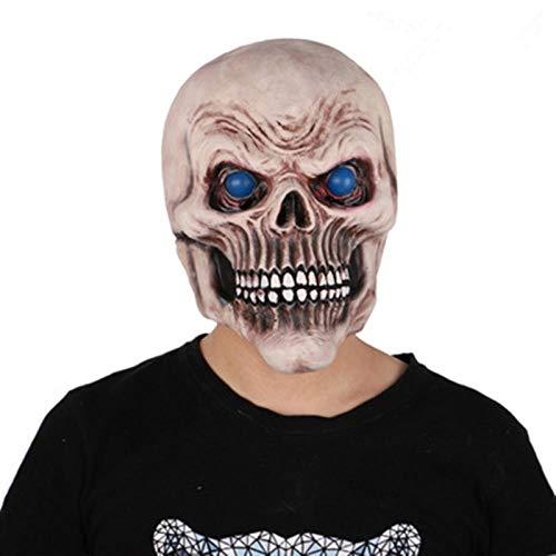 Maske Rider Kostüm Ghost - qiumeixia1 Scary Mask Ghost Rider Totenkopf Anzüge Realistische Latexmasken Halloween Mask Cosplay Horror Requisiten Partykultur