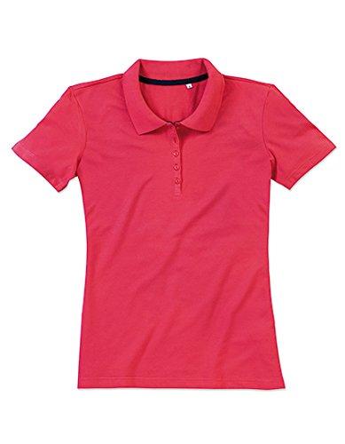 Camicia Polo Donna Pique Poloshirt Salmon Pink