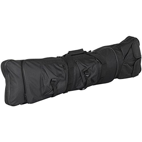 Trixes Schwarze Tasche für Airsoft Sprtgeräte Gewehr Angelrute mit Rucksackriemen 1 Meter Lang -