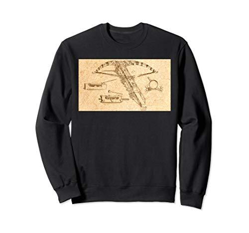 Leonardo Da Vinci Wundervolle Maschine - Armbrust Vintage Sweatshirt
