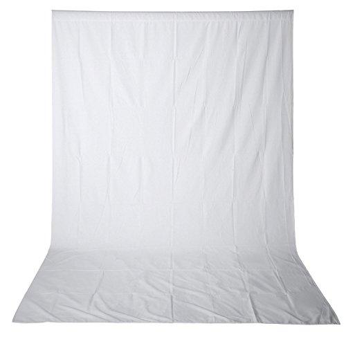 Neewer 10x 12ft/3x 3.6m Foto Studio 100{bf1f671b57fdd600da48c222f6b07dfd5377ebabd5c8cd1114584922bbba6c5d} Chiffon Pure zusammenklappbar Hintergrund für Fotografie, Video und TV (weiß)